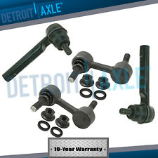 Subaru (2) New Front Sway Bar End Link Set & Outer Tie Rod End Links