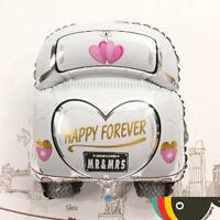 Froh für Immer Just Married Form Auto Folienballons Hochzeitsparty Sehr eNwrg