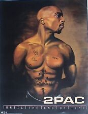 """2PAC """"UNTIL THE END OF TIME"""" U.S. PROMO POSTER - Tupac Shakur, Rap Music Legend!"""