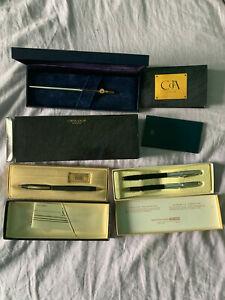 Lot of 3 pens and 1 pencil  CARAN d'ACHE Madison,Cross,sheaffer