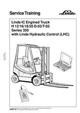 LINDE H 12/16/18/20  D-03-T-03 SERIES 350 SERVICE TRAINING MANUAL REPRINTED