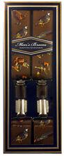 Bretelles - thème de chasse - adulte - réglable - largeur 3,5cm - style 2 marron