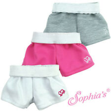 """Doll Clothes 18"""" Sport Shorts with Fold Down Waistband in White Only"""