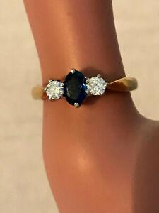 Exquisite 18ct SAPPHIRE & DIAMOND SET RING, a very Hi QUALITY Piece UK hallmark