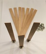 10 x 15mm x 1mm x 150mm wooden wood wick,votive candle,soy paraffin,candle