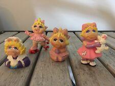 Lot Of 3 PVC Figures Muppet Babies Kermit Gonzo Miss Piggy