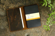 Leather notebook cover for moleskine classic notebook Large size / retro leather