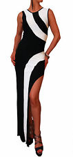 Crew Neck Striped Regular Size Maxi Dresses for Women