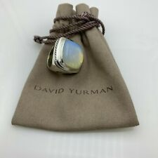 David Yurman Albion Ring with Moonstone 20x20mm Size 8