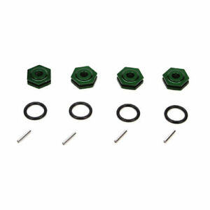Vaterra VTR312006 Green Aluminum Wheel Hex Set/4: 1/14 Losi Mini Desert & Rally
