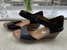 Clarks Black Leather Wedge Size 7.5 D