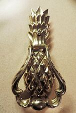 """Solid Brass Pineapple Doorknocker Heavy Nice Quality 7"""" x 3-1/8"""" Door Pull New"""