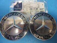 2 Wheel Hub Cap W. Mercedes Benz Emblem OEM# 1714000125 Alloy Wheel Royal Blue