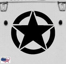 NEW MILITARY STAR Hood Door Window Vinyl Decals 3 sizes (Fits Jeep Wrangler)