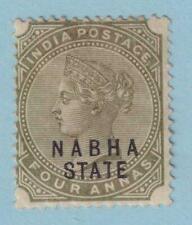 INDIA NABHA 15  MINT HINGED OG * NO FAULTS  VERY FINE