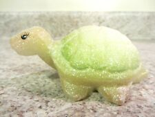 "Fenton Glass 2008 ""Springtime Glitter"" Handpainted Turtle, new in box"