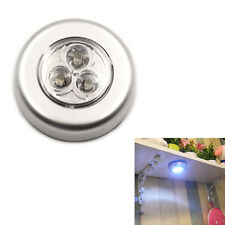 1Pc/Set Led Wireless Stick-On Taps Lights,Silver For Closets, Cabinets, ES