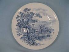 Countryside Blue Salad Plate Enoch Wedgwood Co Blue Transferware Dinnerware (O)