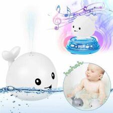 Badespielzeug Baby Wasserspielzeug Sprinkler Wal Spielzeug mit Licht Musik 2 in1