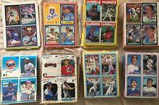 43 1986 1987 1988 1989 Donruss Fleer Topps 4 baseball card wax box bottom panels