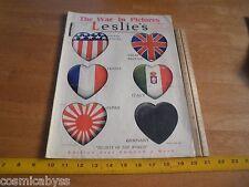 1918 Jun World War I pictures magazine Leslie's Hearts cvr Hamilton Tartars
