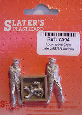 Slaters 7A04 - 7mm - Late LMS/BR White Metal Locomotive Crew Un-Painted 1st Post