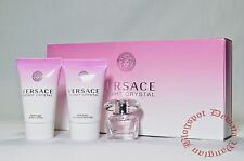 Versace BRIGHT CRYSTAL By Versace 3PC MINI GIFT SET PERFUME, LOTION, S/ GEL NEW