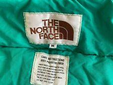 Vintage The North Face puffy Vest White tag Green puffer Jacket sz M Camping