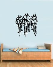 Bike Bicycle Cyclist Cyclists Roadbikes Sport Gym Wall Art Stickers Decals Vinyl