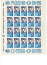 Nauru 1981 Pacific Forum 20 Sets in 4 Full Sheets Muh 4 scans