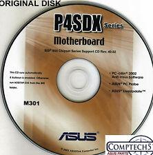 ASUS GENUINE VINTAGE ORIGINAL DISK FOR P4SDX series Motherboard Disk M301