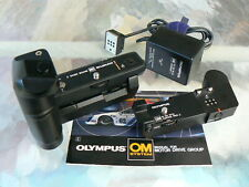 OLYMPUS MOTOR DRIVE 2 SET FOR OM-1 OM-1N OM-2 OM-2N OM-4 OM-4T OM-4Ti *MINT-