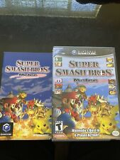 Super Smash Bros. Melee ( GameCube ) Complete Black Label BOX AND MANUAL ONLY.