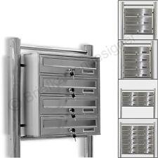 Kelvin® Edelstahl Stand Briefkasten mit Regendach Mailbox Briefkastenanlage