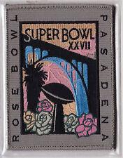 1993 SUPER BOWL XXVII OFFICIAL NFL FOOTBALL PATCH DALLAS COWBOYS BUFFALO BILLS