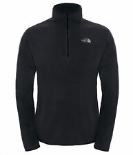 The North Face Mens 100 Glacier 1/4 Zip Pullover Fleece L Black