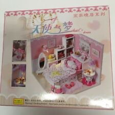 Angels Dream Diy Kids Authority Miniature Bedroom Project W/ Battery Light