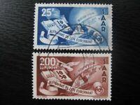 SAAR SAARLAND Mi. #297-298 scarce used stamp set! CV $385.00