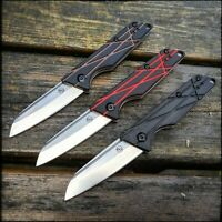 StatGear Ledge Slip-Joint Pocket Folding Knife - D2 Steel G10 Handle EDC Knives