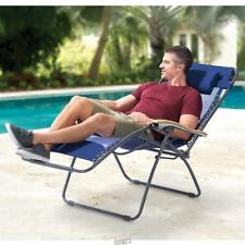 The Ergo Chaise Lounger Large Reclining Breathable Mesh Pool beach Navy