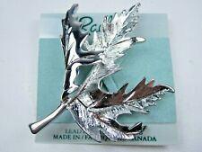 Brooch - 1866 Rachel Rhodium Plated Leaf