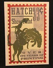 Hatch Show Print 1997 Postcard 33 Cent Cowboy Stamp Reproduced Postcard 2001