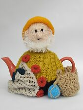 Cornish Fisherman Tea Cosy Knitting Pattern to knit your own Sea Fisherman cosy