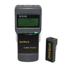 For SC8108 Portable LCD Wireless Network Tester Meter&LAN Phone Cable Tester