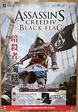 Assassins Creed IV Black Flag RARE PS3 XBOX 360 Wii U 51.5 x 73 Promo Poster #1