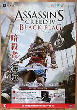 Assassins Creed IV Black Flag RARE PS3 XBOX 360 Wii U 51.5 x 73 Promo Poster #1