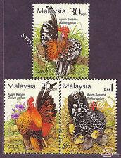 [SS] Malaysia 2001 Bantams STAMP SET