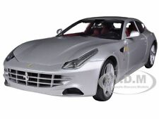 FERRARI FF SILVER 1/18 DIECAST MODEL CAR BY HOTWHEELS X5525