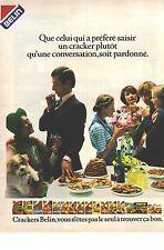 PUBLICITE ADVERTISING 1979  BELIN biscuits gateaux apéritif CRACKERS
