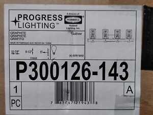 Progress Lighting Gulliver 4-Light Graphite Bath Light
